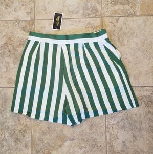 Juicy Couture Shorts - NWT JUICY COUTURE BLACK LABEL SATIN STRIPED SHORTS